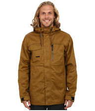 Volcom Monrovia Insulated Mens Snowboard Ski Jacket Brown Small