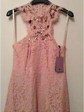 BNWT 🎀 Costa 🎀Size 10 Lulla encaje Dama de honor de bodas fiesta vestido rosa £150 nueva