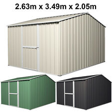 Garden Shed 2.6m Wide x 3.5m Deep x 2.1m High Steel Storage