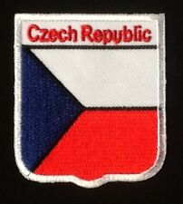 CZECH REPUBLIC CZECHOLOVAKIA NATIONAL COUNTRY FLAG BADGE IRON SEW ON PATCH CREST