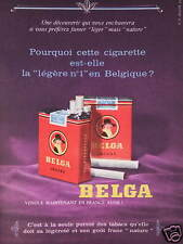 PUBLICITÉ 1960 CIGARETTE BELGA LÉGÈRE BELGE - ADVERTISING