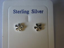 sterling silver  masonic forget me not  stud earrings
