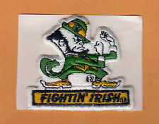 OLD NOTRE DAME FIGHTIN IRISH LOGO STITCHED PATCH Unused Stock