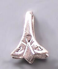 Flared Pinch Bail Sterling Silver #807 (2)
