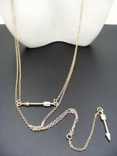 $18 Nordstrom Exclusive Double Arrow Lariat Necklace Dainty Goldtone Chains