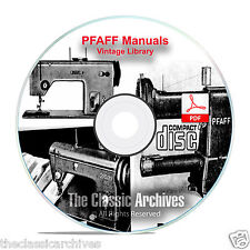 PFAFF Sewing Machine Instruction Books, Service Manuals 230, 332, 260 ++ CD F11