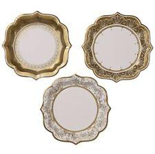 Party Porcelain Gold Medium Paper Party Plates x 12