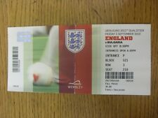 03/09/2010 Ticket: England v Bulgaria [At Wembley] (folded). Footy Progs/Bobfran