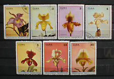 Central America Orchid Stamps Used