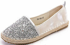 Womens Ladies Flat Espadrille Shoes Holiday Pumps Casual Comfort All Sizes