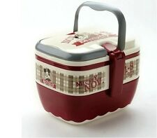 Mickey Mouse Bento Lunch Box Kids Portable Picnic Lock Food Container BPA Free