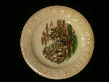Antique Aphabet Plate ABc Charles Allerton & Sons Or Stafforshire Transfer Farm