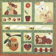 BEES, BUNNIES & BEARS BABY QUILT QUILTING PATTERN, From Desiree's Designs NEW