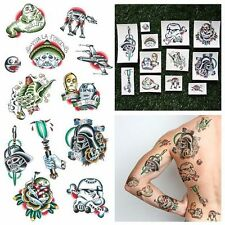STAR WARS CHARACTERS TRADITIONAL TATTOOS DESIGN COLORFUL TEMPORARY (SET OF 12)