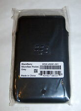 Genuine BlackBerry Z10 Grey Microfibre Pocket Pouch Case with Proximity Sensor