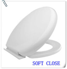 BRAND NEW LUXURY SLOW SOFT TOILET SEAT WHITE CHEAPEST ON EBAY WITH FREE P&P