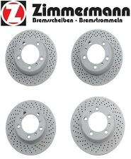 NEW Porsche Boxster Cayman Set of 2 Front & Rear Disc Brake Rotors Zimmerman
