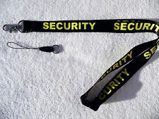 Security Black/Yellow Neck Lanyard & Strong Metal Clip For ID Card/Badge Holder