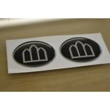 ABBEY Caravan - (RESIN DOMED) - Wheelcap Badges Stickers Decals Graphics - PAIR