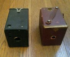 Pair of No. 0 Box Cameras: 127 Kodak Brownie & Ansco