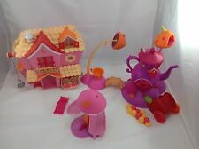 HUGE LALALOOPSY LOT SWEET DOLLHOUSE TREEHOUSE FUNHOUSE accessories