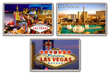 LAS VEGAS LOT OF 3 FRIDGE MAGNET SOUVENIR 3 IMANES NEVERA