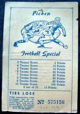 Pickem Football Special Gambling Card September 24, 1949 College Games