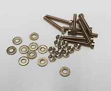 1.7mm x 12mm Cheese head brass pack of 10 nuts, bolts and washers.