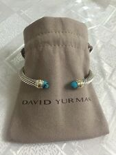 David Yurman Cable Classic Bracelet With Turquoise And 14k Gold 5mm