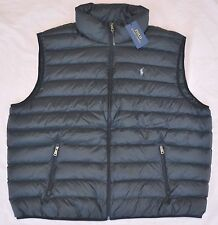 New 3XB 3XL BIG 3X POLO RALPH LAUREN Mens packable down vest puffer black gilet