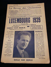 Partition Luxembourg 1939 Emile Van Herck  Music Sheet