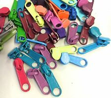 Bright Candy Colored Long Pulls Heads for your #3 Coil Bag Zippers: 40 pcs