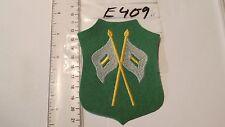 Schützen Armabzeichen Fahnenträger 1Stück gelb weiss auf grün (e409+)