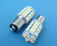 1x BA15D 1142 Warm White LED bulb Boat lights 24-5050SMD DC12V 300LM NEW