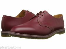 MEN'S DR MARTENS 1461 OXFORD LEATHER SHOES CHERRY RED MADE IN ENGLAND SIZE 5 NEW