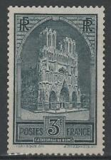"FRANCE STAMP TIMBRE N° 259 "" CATHEDRALE REIMS 3F TYPE I "" NEUF xx TTB  N329"