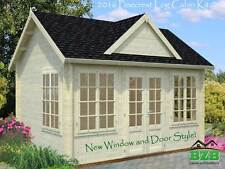 "13'x9'10"" Log Cabin Kit, Pool or Garden House, Our Best Selling Model On Sale!"