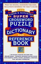 Simon and Schuster Super Crossword Puzzle Dictionary and Reference Book by NICE