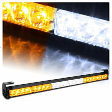24LED Emergency Advisor Strobe Beacon Safety Warning Light Bar amber white