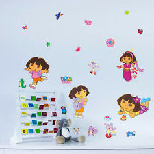 Dora The Explorer Children Girl Nursery Bedroom Wall Stickers Decals Decor UK