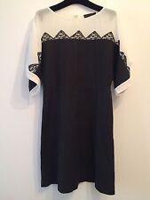 Jo No Fui New Shantung Dress With Silk Inserts, Size 40It/ 8 Uk
