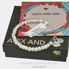 Authentic Alex and Ani Traveler Shiny Silver Bangle