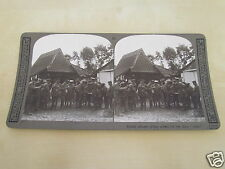 WW1 STEREOVIEW - BRITISH OFFICERS GIVING ORDERS FOR THE DAYS STRAF
