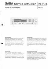 Saba Original Service Manual für Receiver RS 930