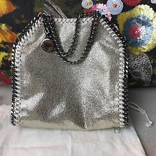 Stella McCartney Falabella Tiny Baby Bella Metallic Gold Tote Crossbody Bag $775