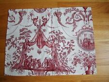 PIERRE FREY Yves Delorme PARIS FRANCE FIGARO CUSHION PILLOW COVER Red Toile NEW