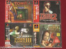 *Complete* PS1 TOMB RAIDER / RAIDERS I II III V 1 2 3 5 Japan Import PlayStation