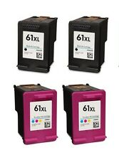 4 Pack #61 XL Black/Color Ink for HP ENVY 4500 4501 4502 4504 5530 5531 5535