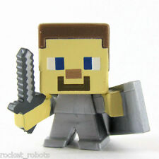 Minecraft Mini Figure Series 6 End Stone Series Loose Steve with Shield