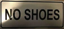 Aluminium Please Take the shoes Off / No shoes Sticker Adhesive Sign